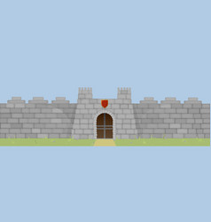 Large stone fortress or stronghold for protection vector
