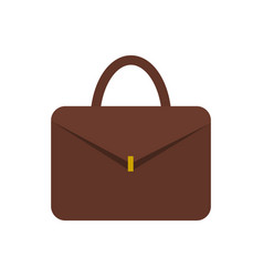Leather briefcase for documents with gold clasp vector