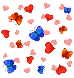 Love and butterfies vector image