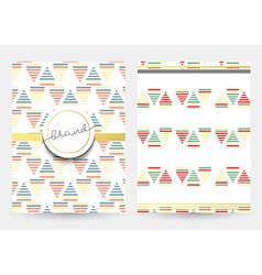 Magazine cover with geometric patterns Magazines vector image