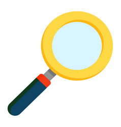 Magnifying glass in closeup loupe with handle vector