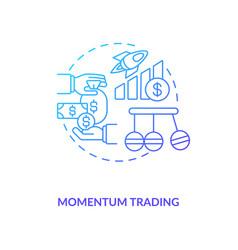 Momentum trading concept icon vector