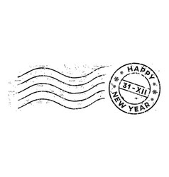 new year post rubber stamp isolated on white vector image