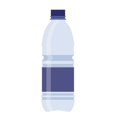 plastic recycled blue water bottle vector image