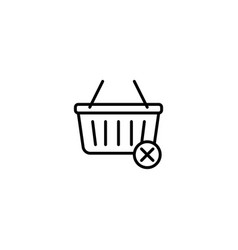 remove from basket icon vector image