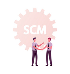 Scm supply chain management and business strategy vector