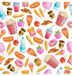 Seamless pattern street food vector