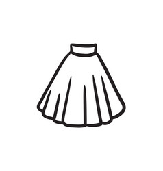 Skirt sketch icon vector