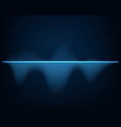 sound wave abstract background glowing curve vector image