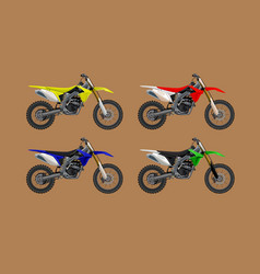 sport moto offroad 4x set technical model vector image