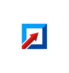 square arrow up logo vector image