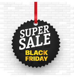 super sale concept black friday sale banner vector image