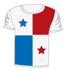 t-shirt flag panama vector image