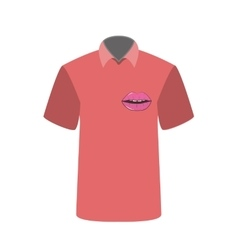 T-shirt with the image of Lip vector image