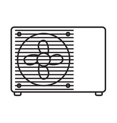 Thin line air conditioner icon vector