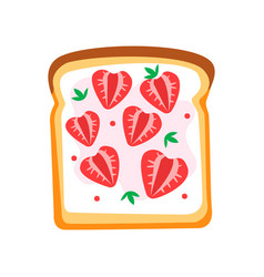 Toasted bread slice with butter and ripe vector