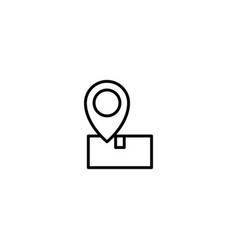 Tracking package icon vector