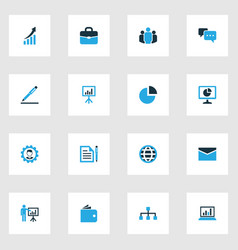Trade colorful icons set collection of growing vector
