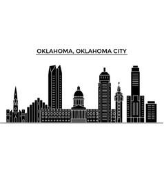 Usa oklahoma oklahoma city architecture vector