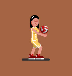 volleyball female player vector image