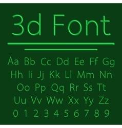 Volumetric 3d Alphabet vector