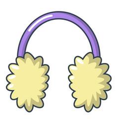 Winter headphones icon cartoon style vector