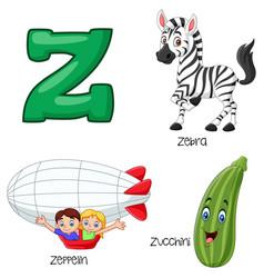 z alphabet vector image