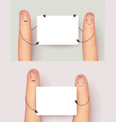 Fingers and white clean banner set vector