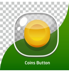 Game button icons coins for mobile games vector image