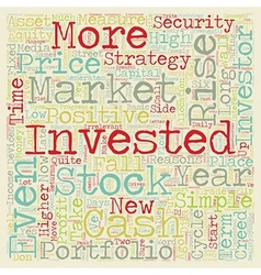 Investment Strategy The Investor s Creed text vector image