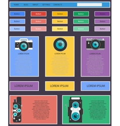 Photo video camera and multimedia equipment web vector image vector image