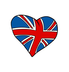 united kingdom heart patriotic symbol vector image vector image