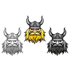 Agressive viking warriors vector