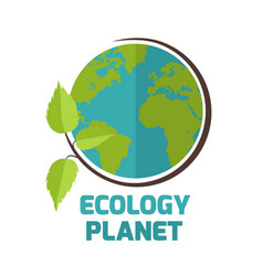 Ecology planet sapling earth background ima vector