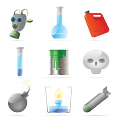 Icons for dangerous chemistry vector image vector image