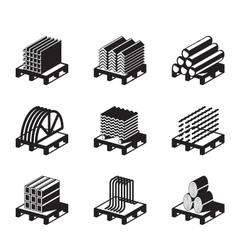 Metal building materials vector image