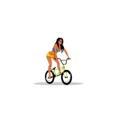 Sexy Girl on BMX sign vector image vector image
