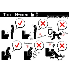 Toilet Hygiene vector image