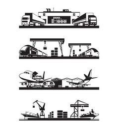 transport cargo terminals vector image