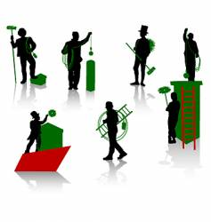 chimney sweep vector image vector image