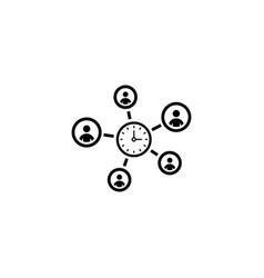 efficiency management icon flat design vector image