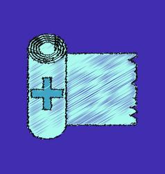 flat shading style icon medicine napkins vector image vector image