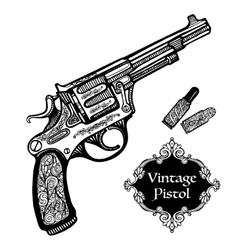 Hand Drawn Retro Pistols vector image vector image