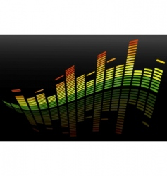vector equalizer abstract background vector image