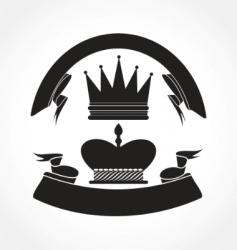 vintage crown vector image