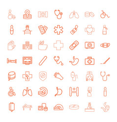 49 hospital icons vector image