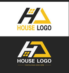 a set of logos with a letter h vector image