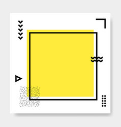 abstract geometric frame memphis square cards vector image