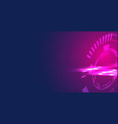 abstract geometric technology shape of glowing vector image