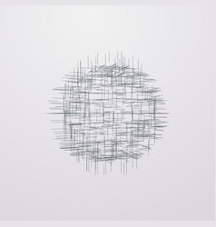 Abstract lattice 3d shape with lines and levels vector